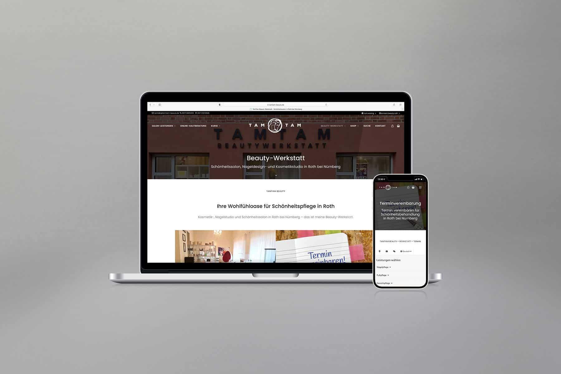Agentur-Referenzen: WordPress Website und Webdesign für Beauty-Salon