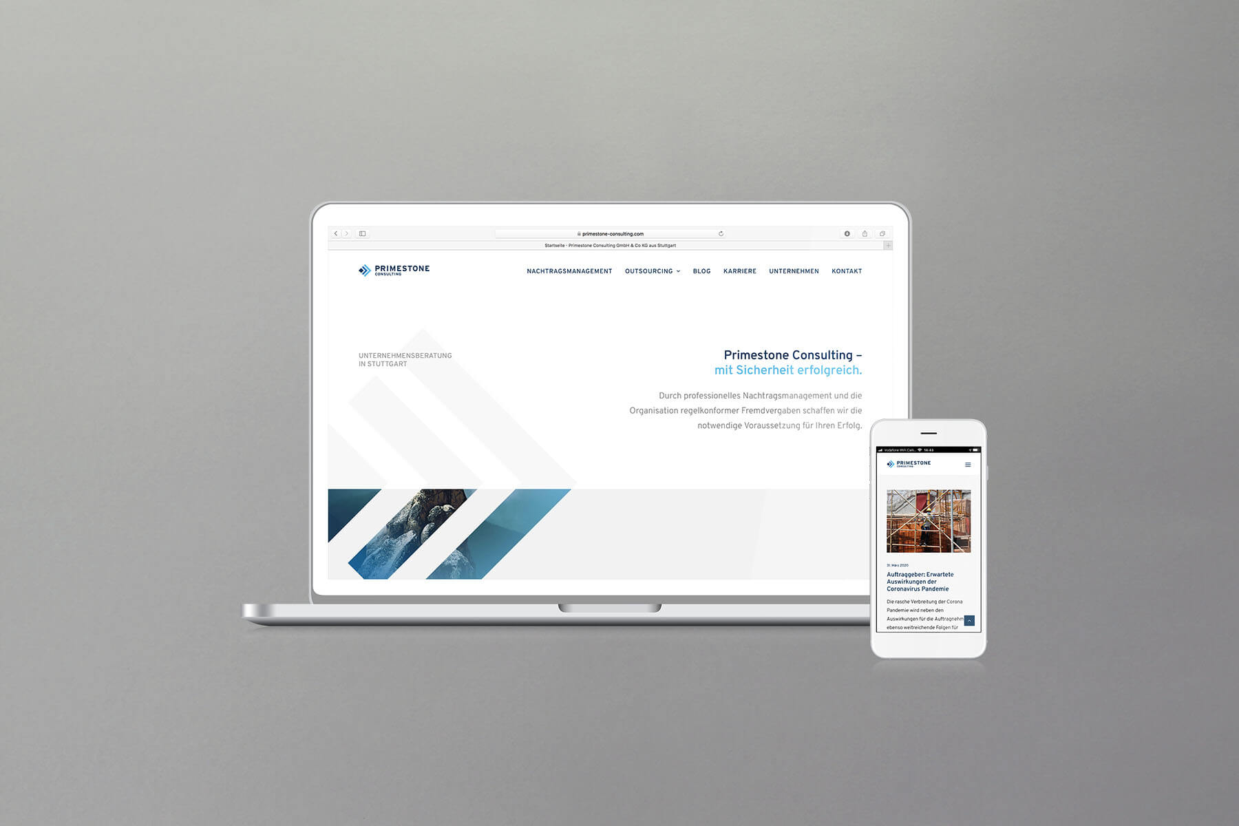 Responsive Website mit WordPress für Beratungsunternehmen