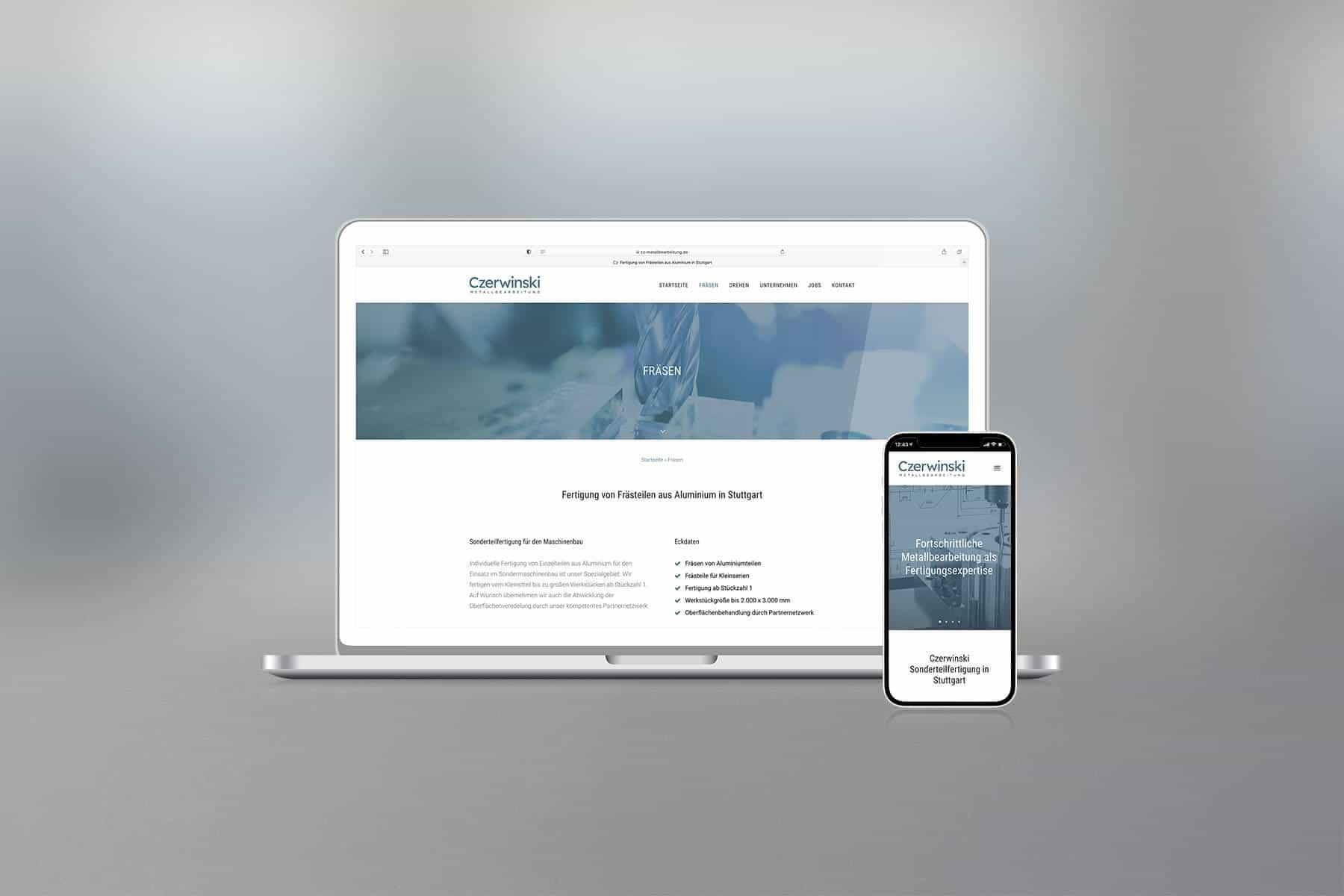 Agentur-Referenzen: Webdesign und WordPress Website für Fertigungsfirma