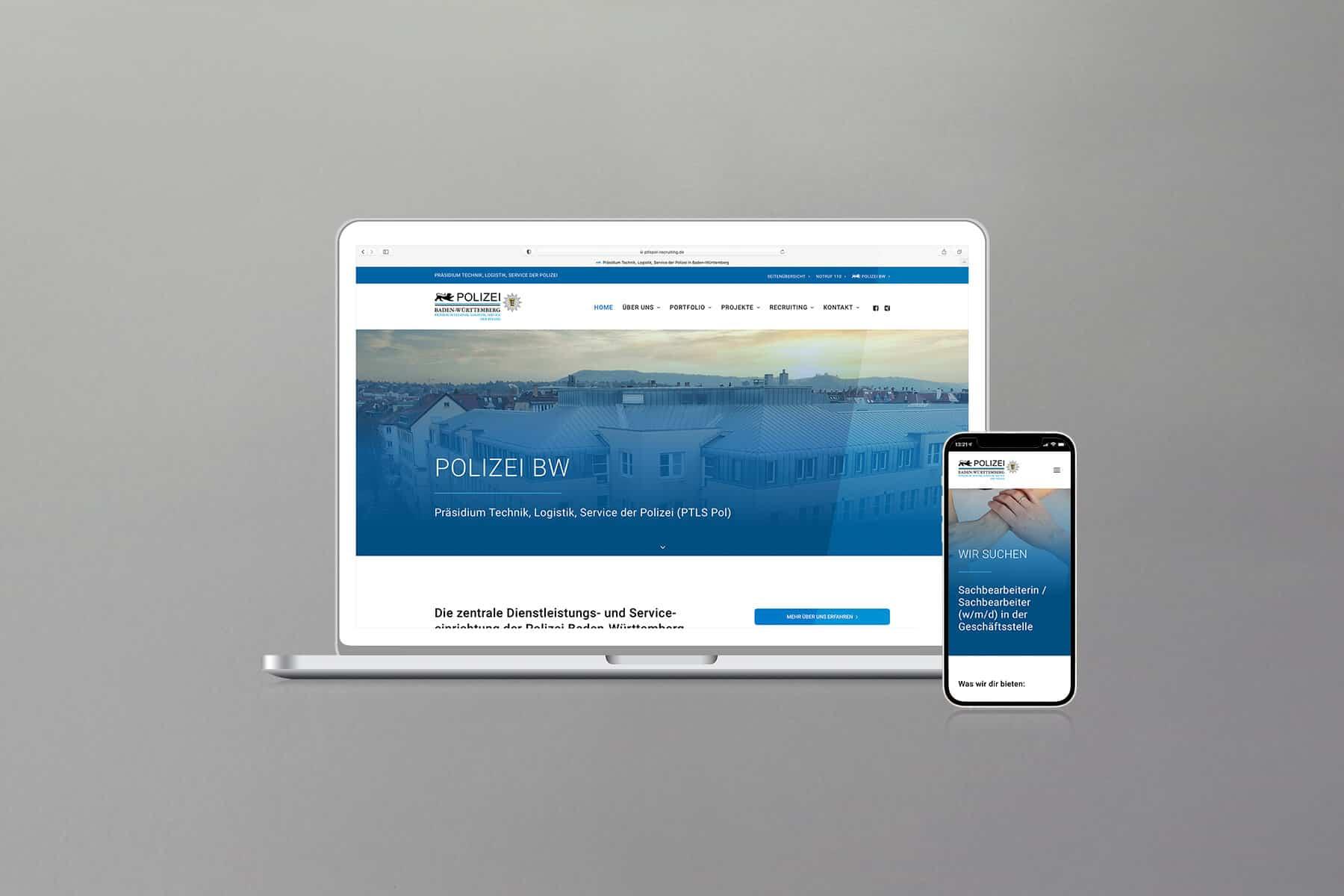 Agentur-Referenzen: Webdesign und WordPress Website für Karriereportal der Polizei BW