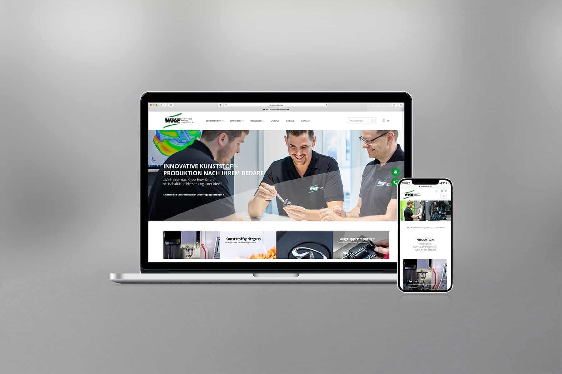 Agentur-Referenzen: Webdesign und TYPO3 Website für Fertigungsfirma und Kunststoffhersteller