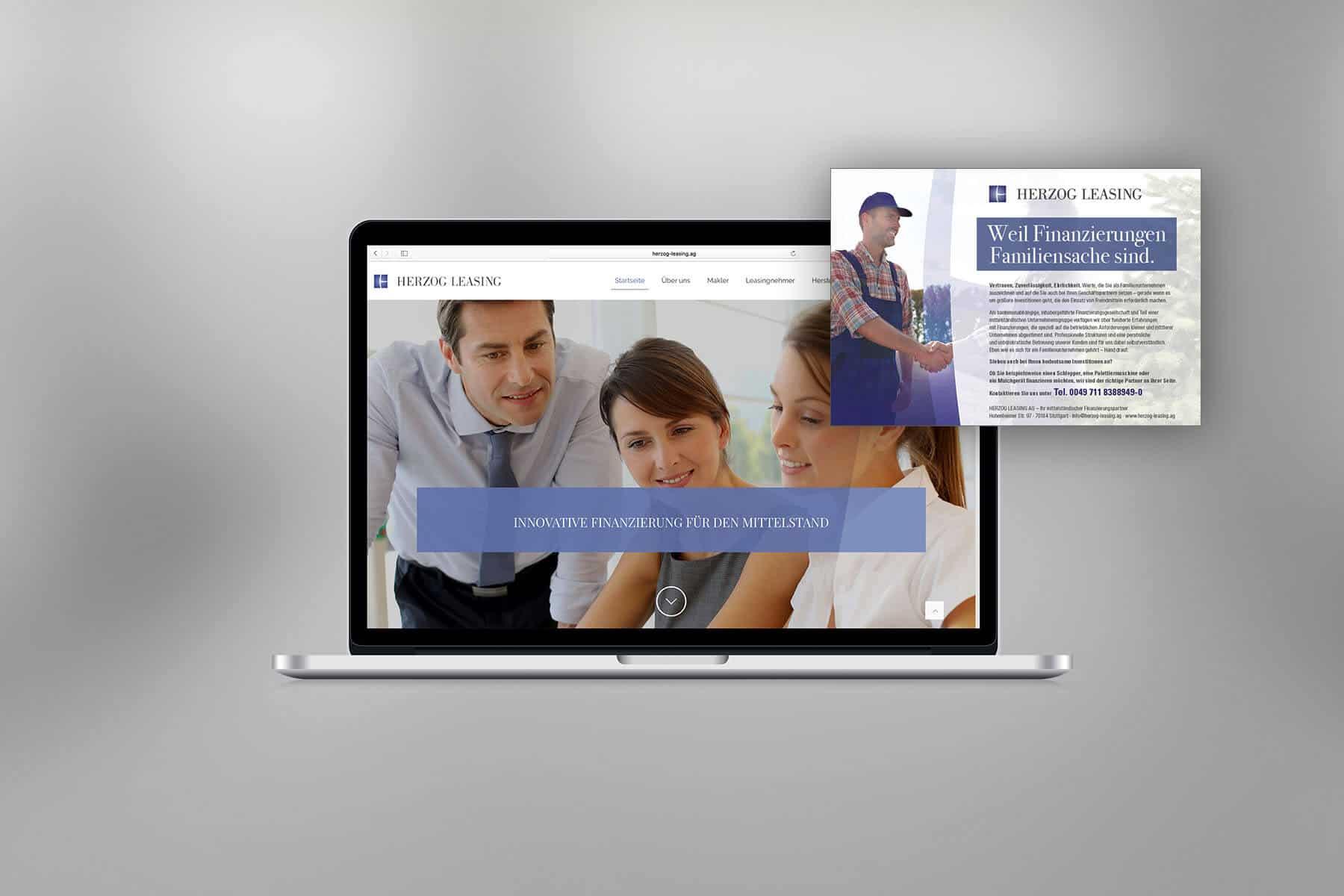 Agentur-Referenzen: Webdesign und WordPress Website mit Texterstellung für Finanzdienstleister und Leasing-Unternehmen