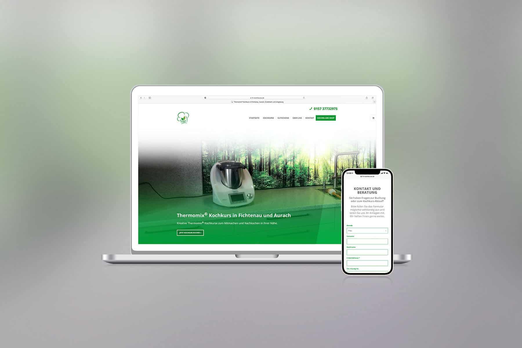 Agentur-Referenzen: Webdesign und WordPress Website mit SEO für Live-Kurse vor Ort