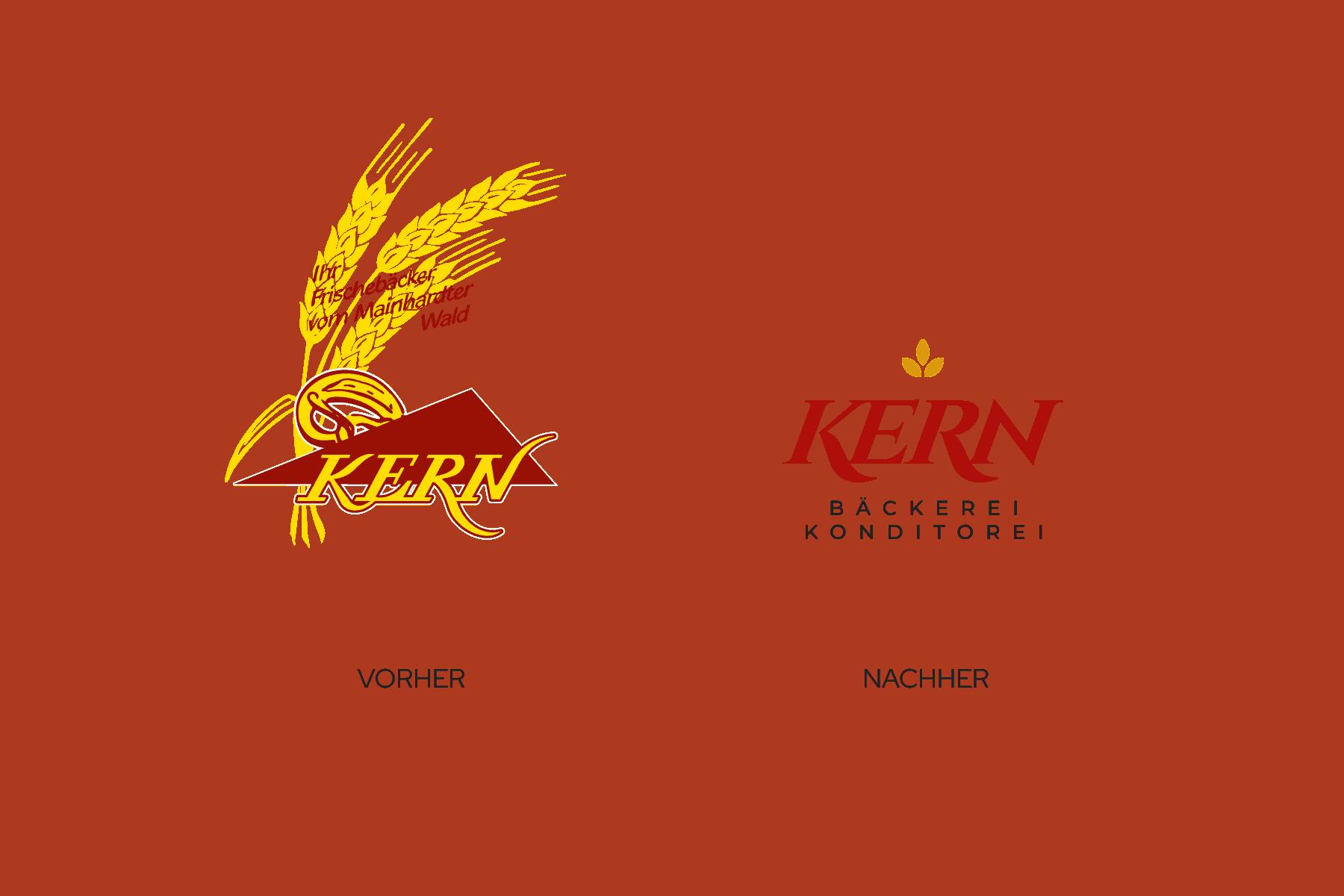 Vergleich Logo vorher Design nachher