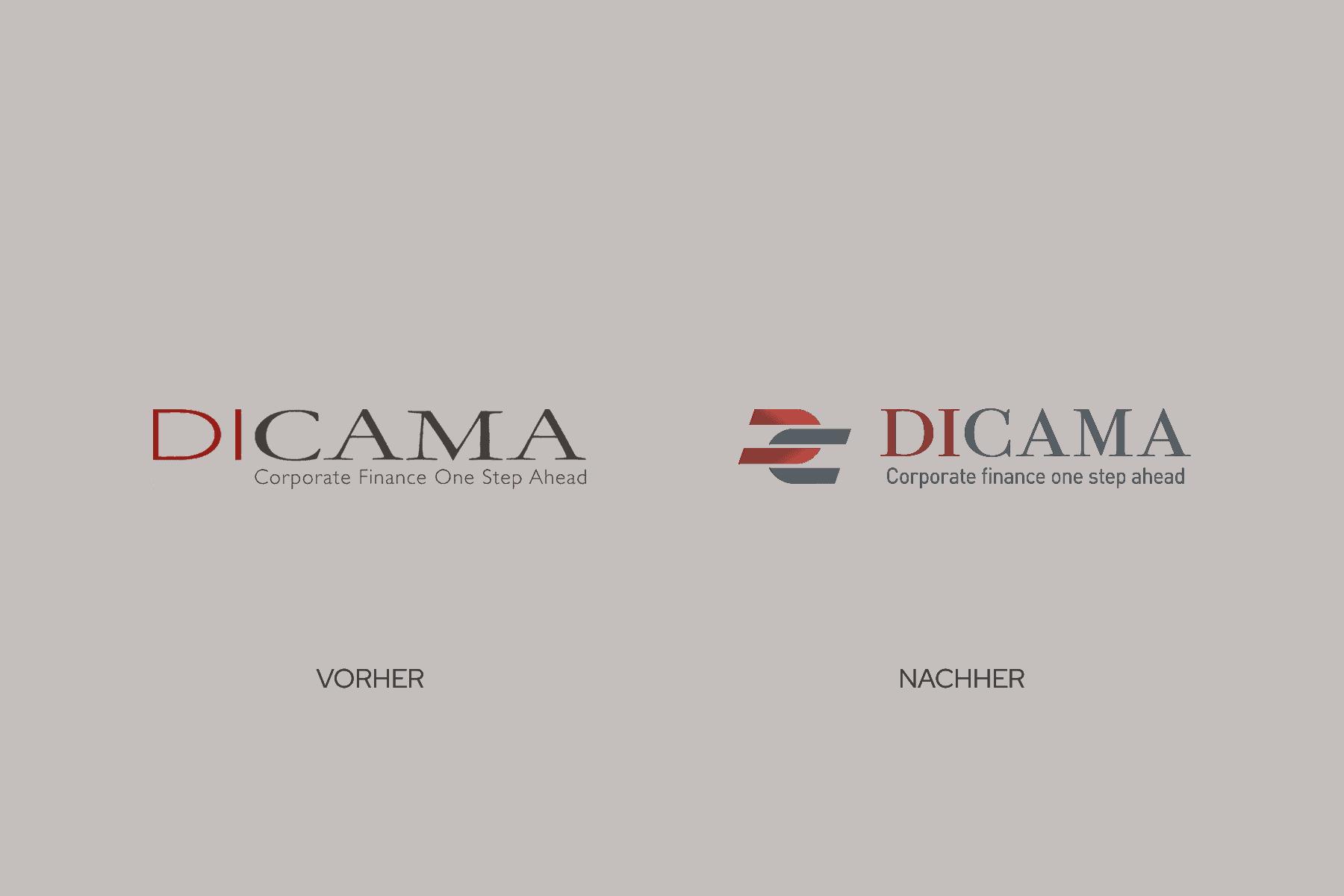 Logo-Design Vorher-Nachher-Vergleich