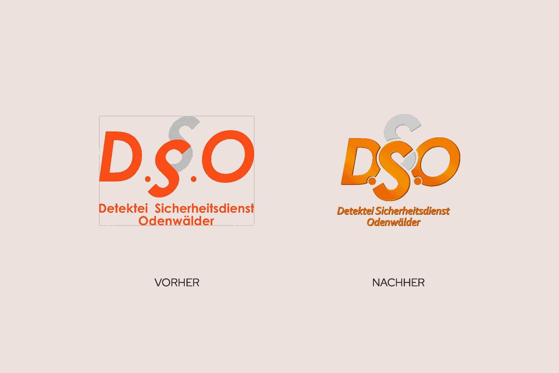 Design von Logos im Vorher-Nachher-Vergleich