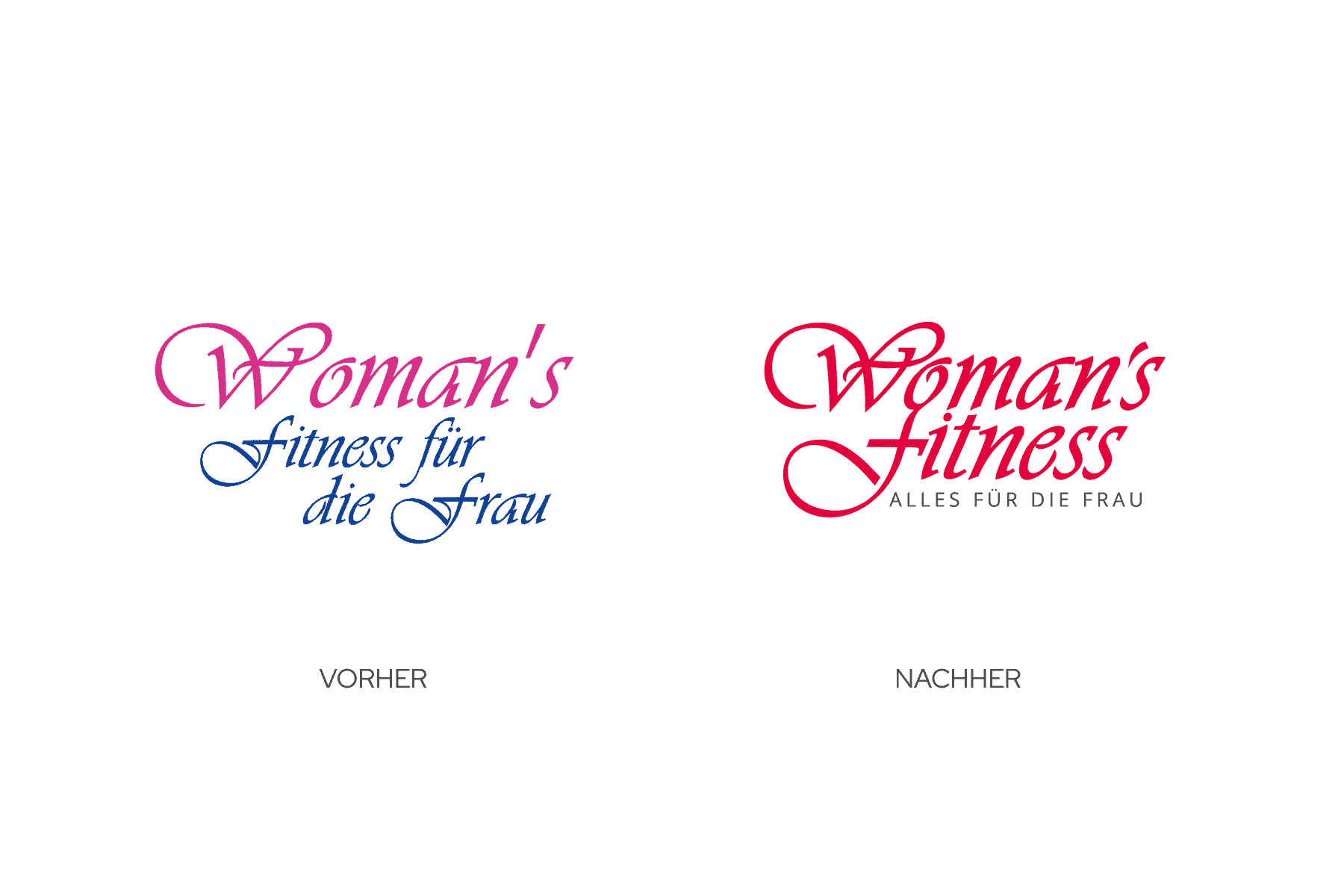 Vergleich Logo nachher Design vorher