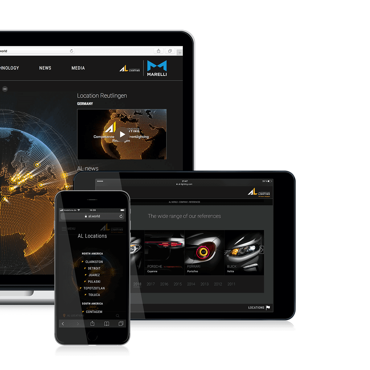 Agentur-Referenzen Marelli Automotive Lighting TYPO3 Website-Relaunch
