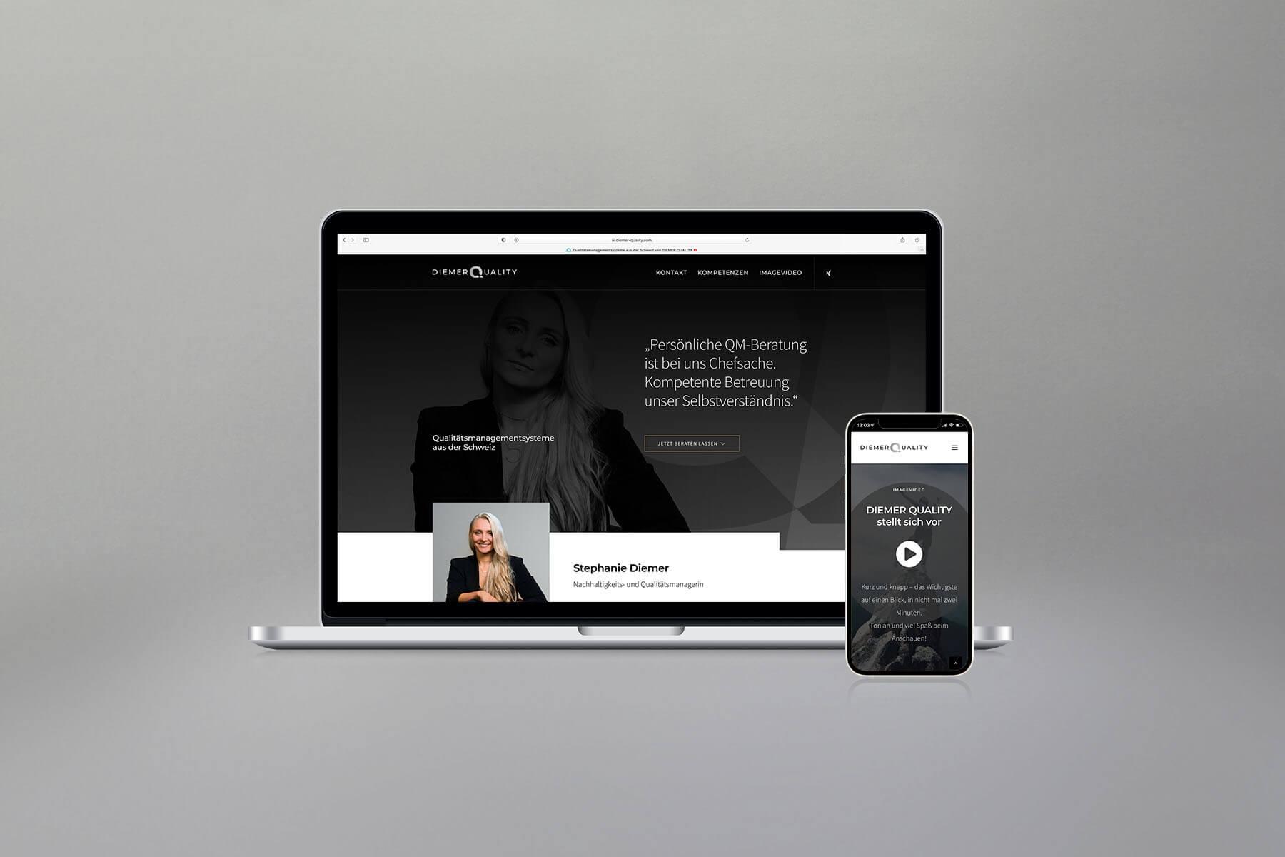 Agentur-Referenzen: Webdesign und WordPress Website für Nachhaltigkeitsberatung und Qualitätsmanagement