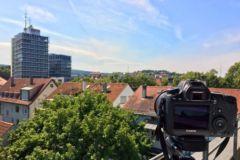 Blick zum Fernsehturm in Stuttgart