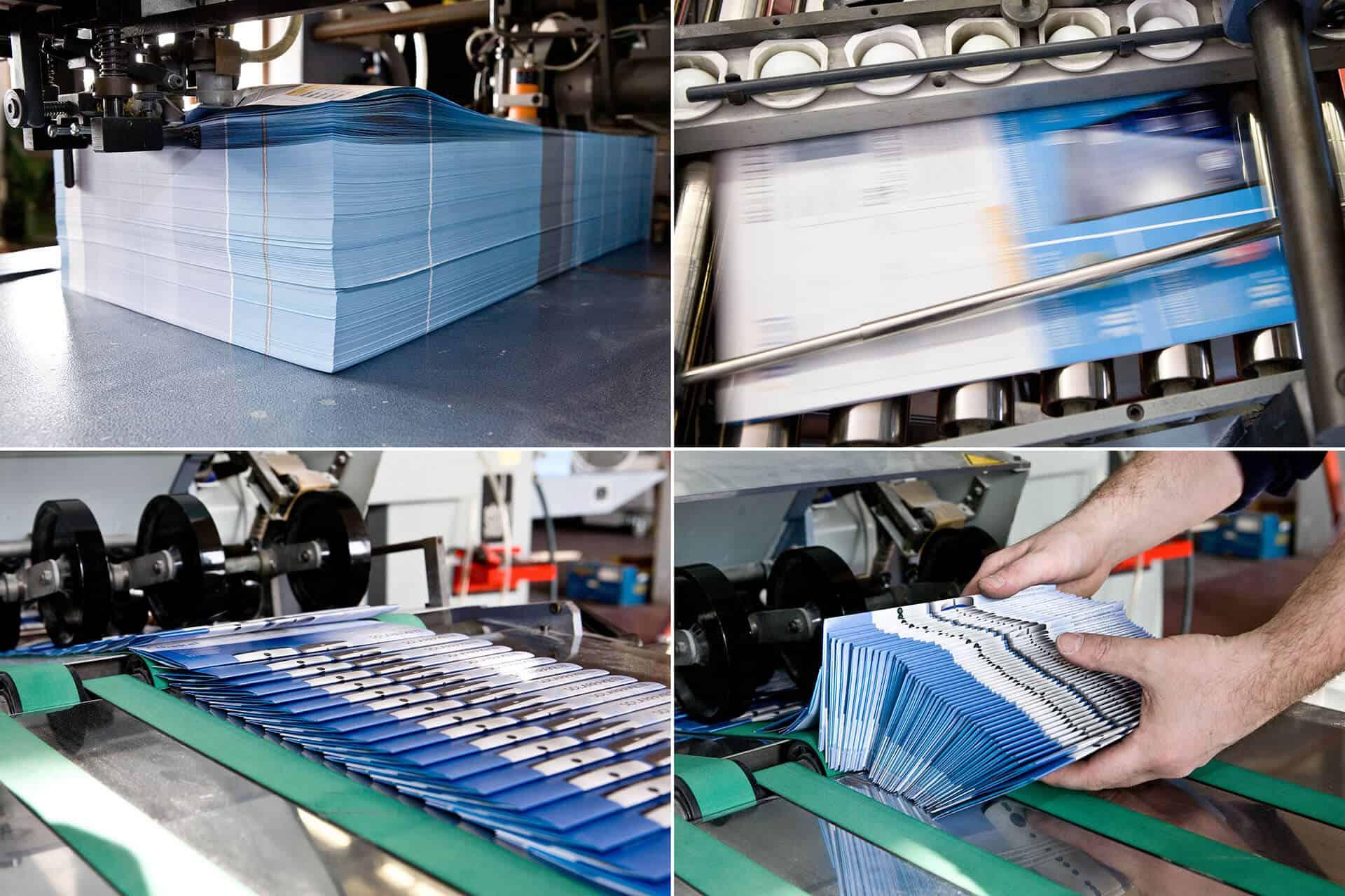 Druckproduktion von Printmedien