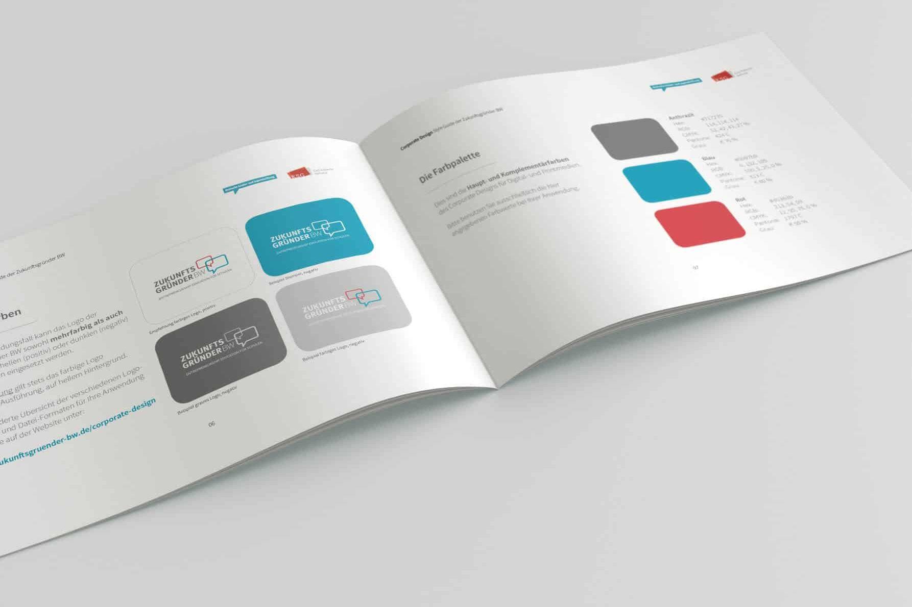 Neues Corporate Design für Zukunftsgründer BW